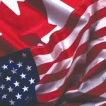 American & Canadian Flag