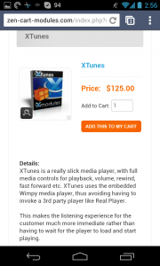 Zen Cart Modules Add To Cart on the Nexus 4